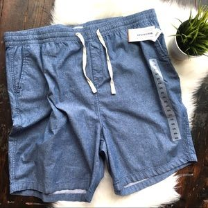 OLD NAVY Denim Chambray Blue Built In Flex Shorts